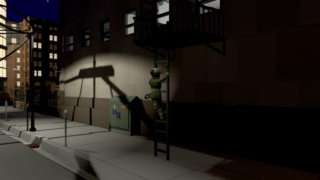 [Image: L'Acrobate en route pour la toiture]