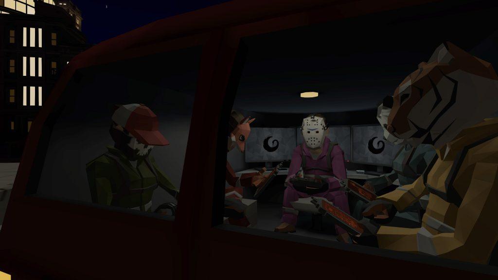 [Image: L'équipe Black Swan fait un briefing dans le van]